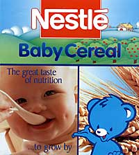 Nestlé Baby Cereal sample